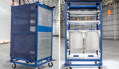 Mueble prototipo para transporte de cubas